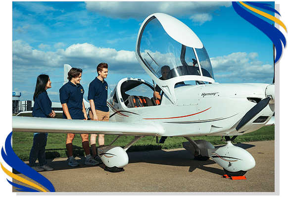 Hands on experience at Rising Aviation High School
