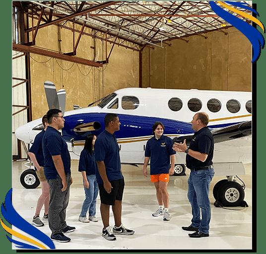 Blended learning program at Rising Aviation High School