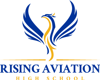 Rising Aviation High School logo